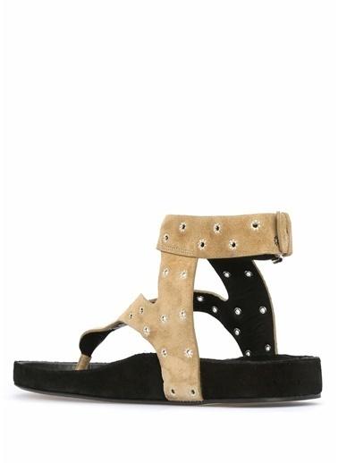 Etoile Isabel Marant %100 Deri Sandalet Bej